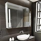 Artforma Spiegelschrank mit LED Beleuchtung 3-Türig...