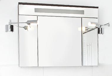 Ein moderner Spiegelschrank